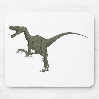 Dinosaurio verde del Velociraptor Alfombrilla De Ratón