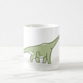 Dinosaurio verde, ejemplo de Digitaces Taza Básica Blanca