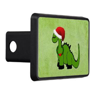 Dinosaurio verde en un gorra de Santa para el Tapa De Remolque