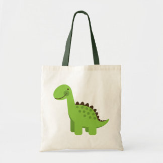 Dinosaurio verde lindo bolsa tela barata