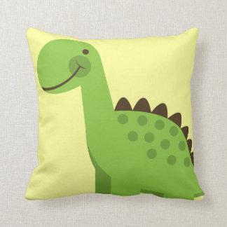 Dinosaurio verde lindo cojín
