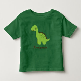 Dinosaurio verde lindo de Personalizable Remera