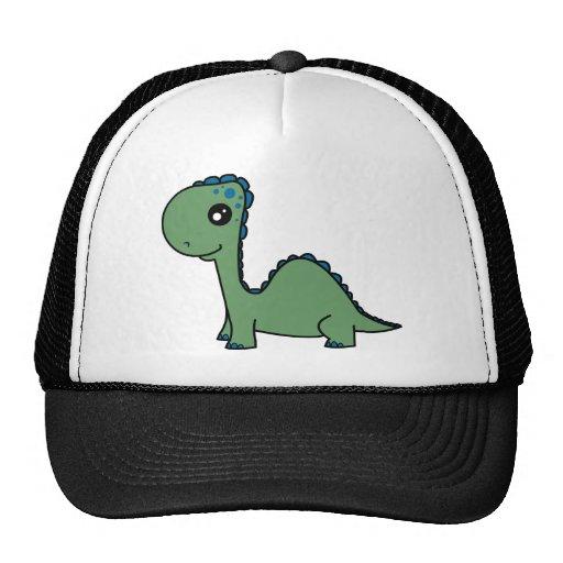 Dinosaurio verde lindo del bebé gorra