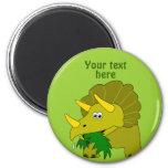 Dinosaurio verde lindo del dibujo animado del Tric Imán Para Frigorífico