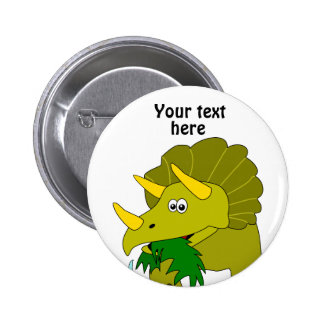 Dinosaurio verde lindo del dibujo animado del Tric Pin