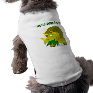 Dinosaurio verde lindo del dibujo animado del Tric Playera Sin Mangas Para Perro