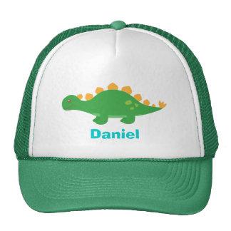 Dinosaurio verde lindo del Stegosaurus para los ni Gorras De Camionero
