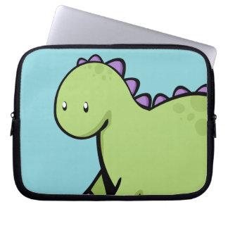 Dinosaurio verde lindo funda ordendadores