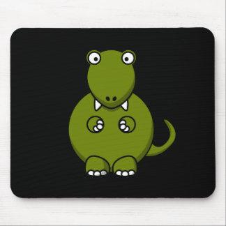 Dinosaurio verde lindo Mousepad Tapete De Raton
