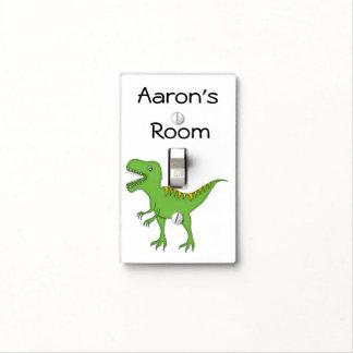 Dinosaurio verde lindo+Personalice el nombre Cubiertas Para Interruptor