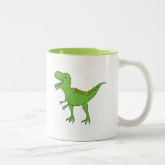 Dinosaurio verde+Personalice el nombre Tazas De Café