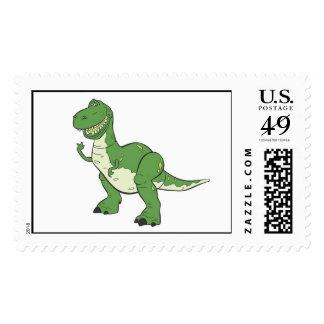 Dinosaurio verde Rex Disney del dibujo animado Sellos