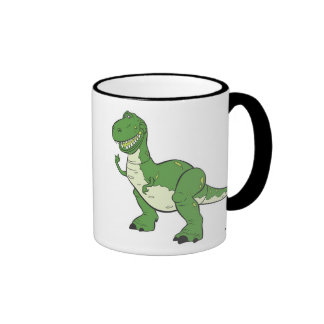 Dinosaurio verde Rex Disney del dibujo animado Taza A Dos Colores