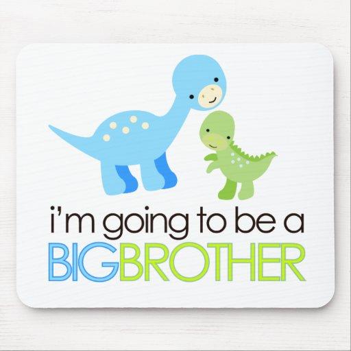 Dinosaurio voy a ser un hermano mayor alfombrilla de ratón