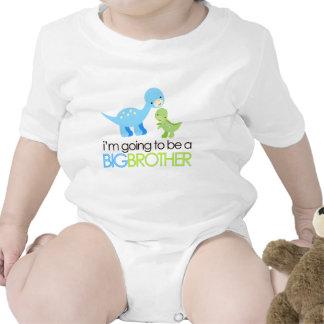 Dinosaurio voy a ser un hermano mayor traje de bebé