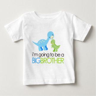 Dinosaurio voy a ser un hermano mayor playera de bebé