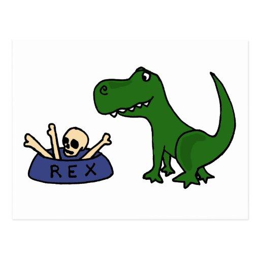 Dinosaurio y cráneo divertidos XY de T-Rex en Postales