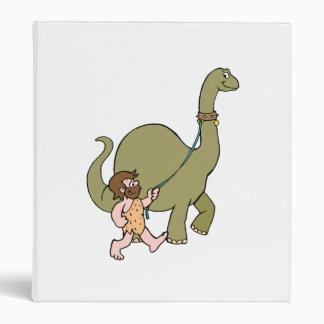 Dinosaurio y hombre de las cavernas