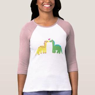 Dinosaurio y una JIRAFA Camisetas