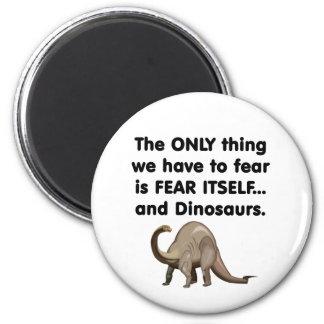 Dinosaurios 1 del miedo sí mismo imán redondo 5 cm