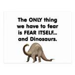 Dinosaurios 1 del miedo sí mismo postal