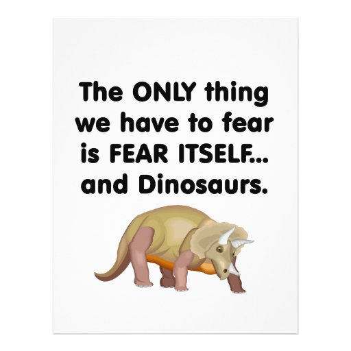 Dinosaurios 2 del miedo sí mismo tarjetas informativas