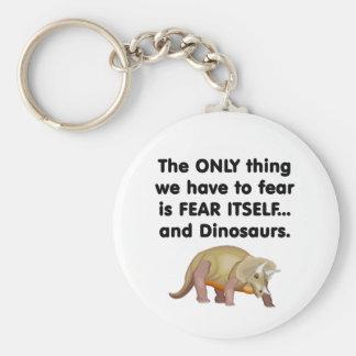 Dinosaurios 2 del miedo sí mismo llavero redondo tipo pin