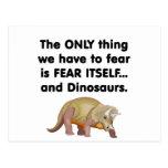 Dinosaurios 2 del miedo sí mismo postal