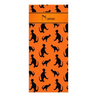 Dinosaurios anaranjados conocidos personalizados tarjetas publicitarias personalizadas