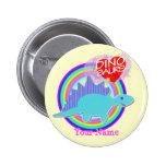 Dinosaurios azules lindos del amor de Dino I su bo Pins