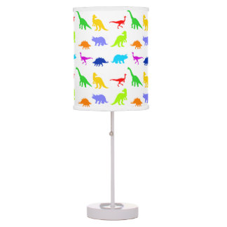 Dinosaurios coloridos lámpara de mesa