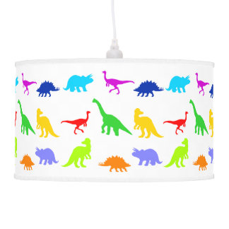 Dinosaurios coloridos lámpara de techo