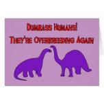 Dinosaurios de Overbreeding Tarjetas