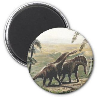 Dinosaurios del Amargasaurus del vintage con los Imán Redondo 5 Cm
