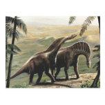 Dinosaurios del Amargasaurus del vintage con los Postal