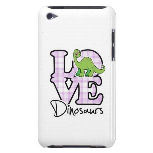Dinosaurios del amor iPod Case-Mate cobertura