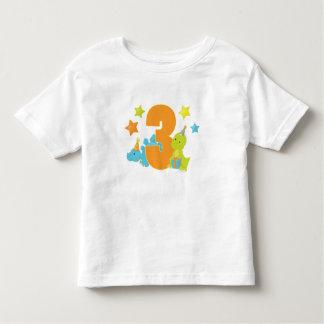 Dinosaurios del bebé camisa del cumpleaños de tres
