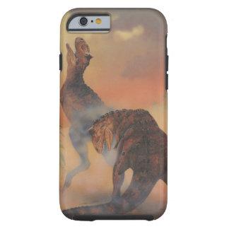 Dinosaurios del Carnotaurus del vintage que rugen Funda De iPhone 6 Tough