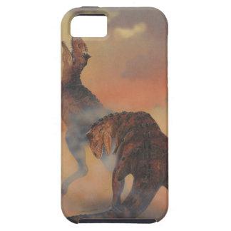 Dinosaurios del Carnotaurus del vintage que rugen iPhone 5 Carcasa
