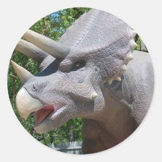 Dinosaurios del Triceratops Etiquetas Redondas