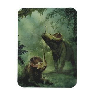 Dinosaurios del vintage, Centrosaurus en la selva Imán