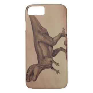 Dinosaurios del vintage, Giganotosaurus que come Funda iPhone 7
