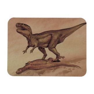 Dinosaurios del vintage, Giganotosaurus que come Imanes De Vinilo