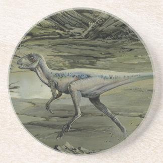 Dinosaurios del vintage, un Hypsilophodon cretáceo Posavasos Cerveza