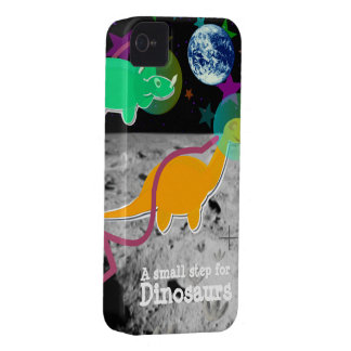 Dinosaurios en el caso 4S del iPhone 4 de la luna iPhone 4 Case-Mate Protectores