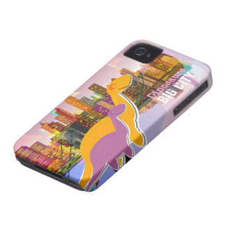 Dinosaurios en el caso grande 4S del iPhone 4 de l iPhone 4 Case-Mate Coberturas