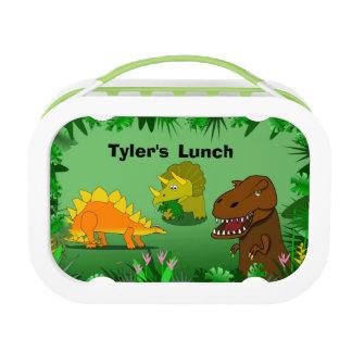 Dinosaurios en la caja del almuerzo personalizada