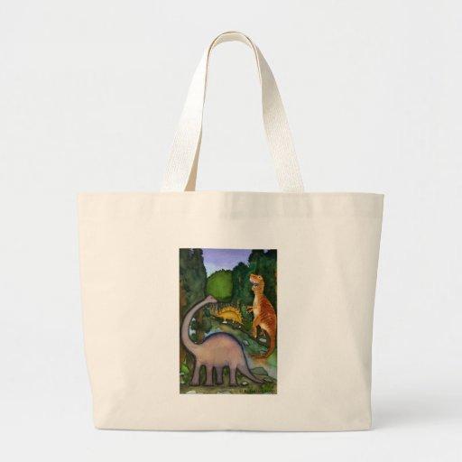 Dinosaurios en la cala bolsa de mano
