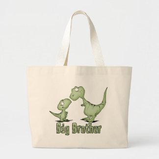 Dinosaurios hermano mayor bolsa tela grande