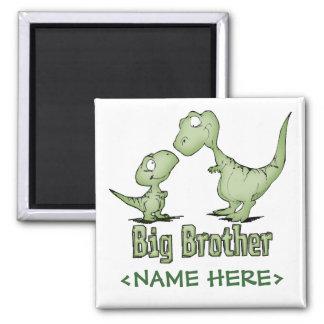 Dinosaurios hermano mayor imán cuadrado